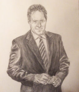 My Favorite Canadian. 2015. Charcoal on Paper.